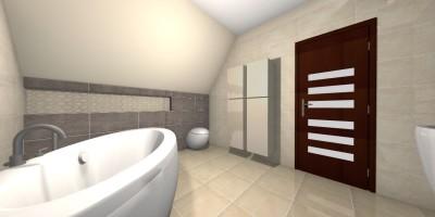 łazienka szaro beżowa