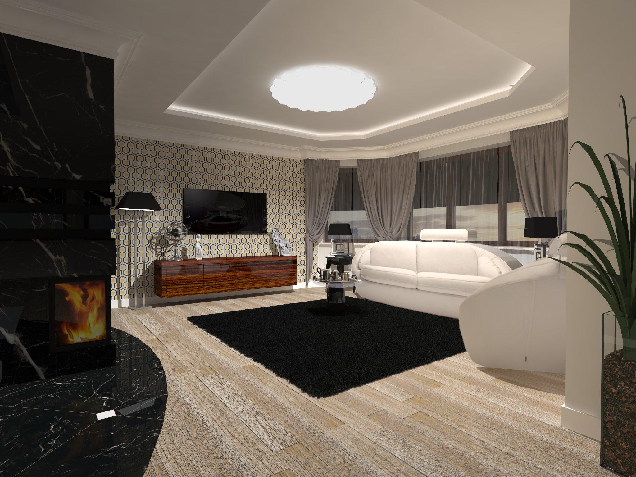 salon w stylu nowoczesnym  AuraDesing – aranżacja wnętrz -> Salony Kuchni Kraków