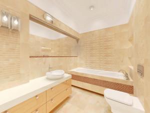 łazienka w ciepłym kolorze