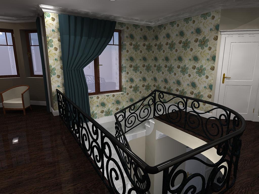 holl na piętrze- w stylu angielskim