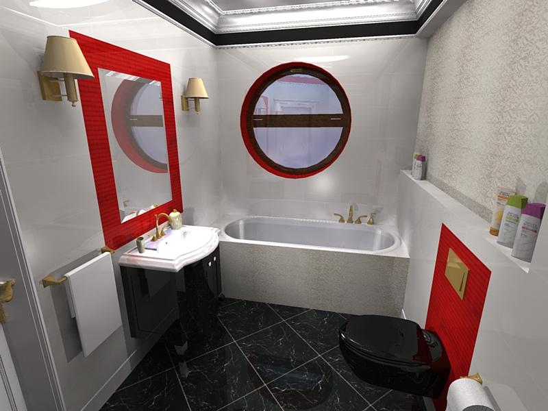 łazienka nastolatki w stylu glamour