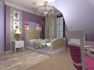 pokój w stylu angielskim dla dziewczynki