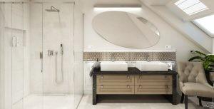 łazienka w stylu glamour bu Auradesign.pl