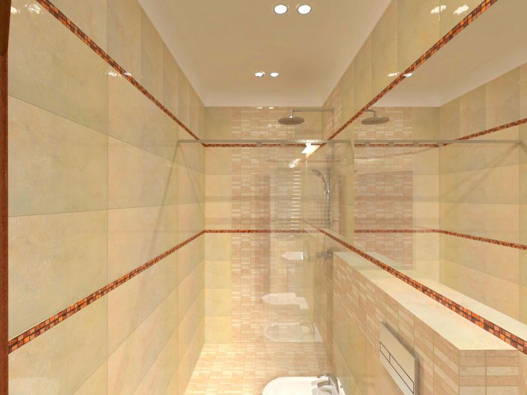 łazienka w ciepłej tonacji