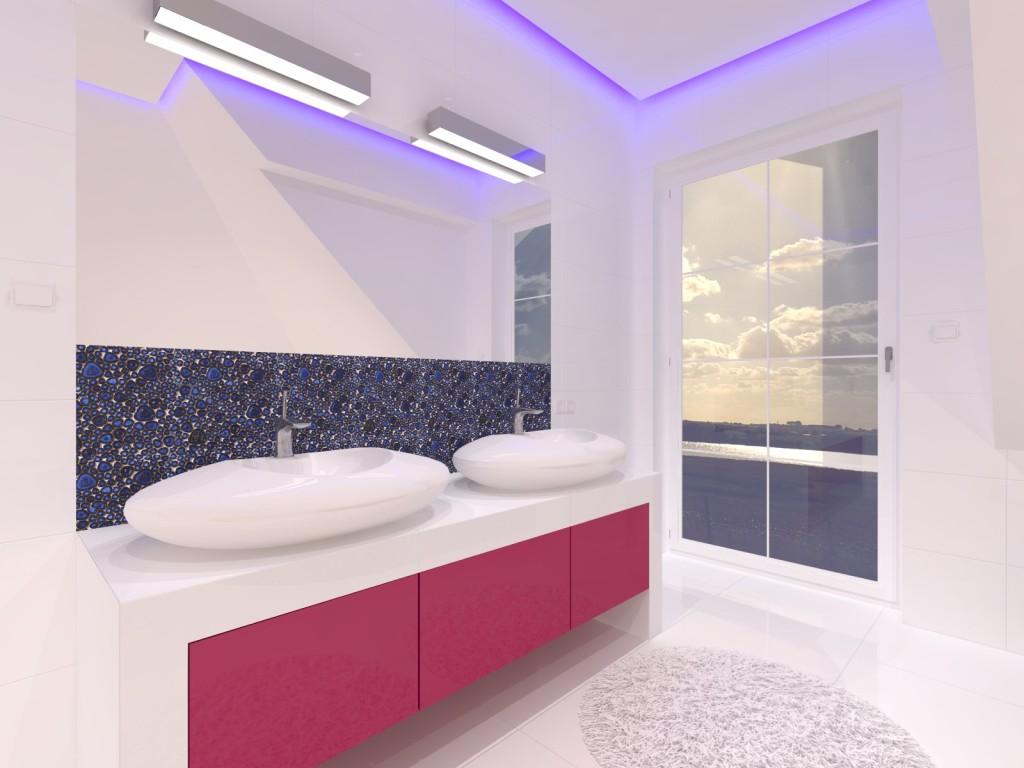 łazienka w bieli zdodatkami