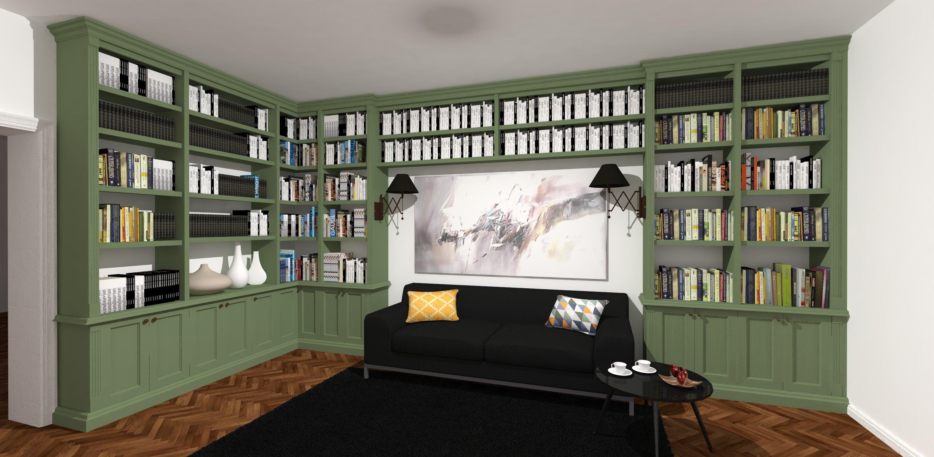 biblioteka w stylu angielskim