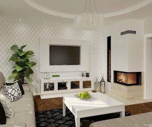 b aranżacja salonu w stylu glamour- Auradesign.pl
