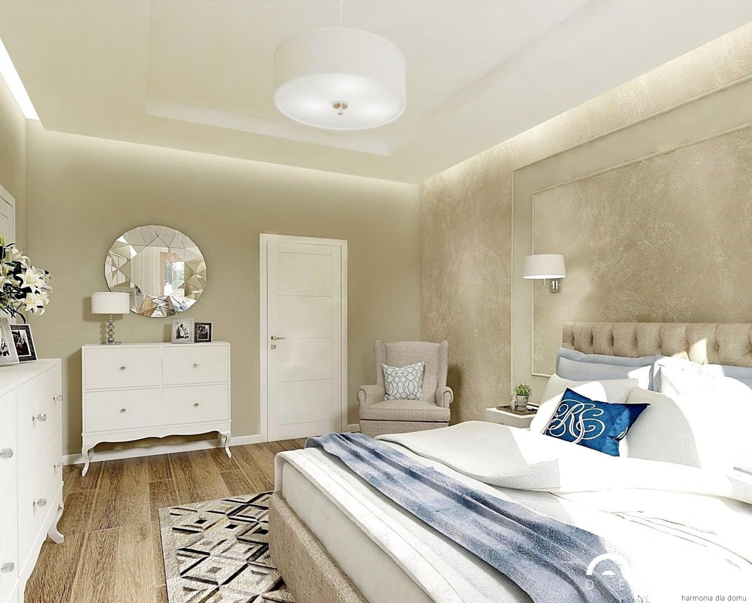 aranżacja sypialni w stylu glamour- Auradesign.pl
