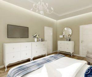a  aranżacja sypialni w stylu glamour- Auradesign.pl