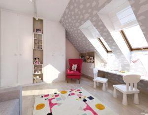 pokój dziewczynki projekt Auradesign.pl