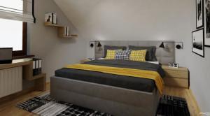 projektowanie wnętrz Inowrocław, sypialnia na poddaszu, Dorota Krzyżaniak