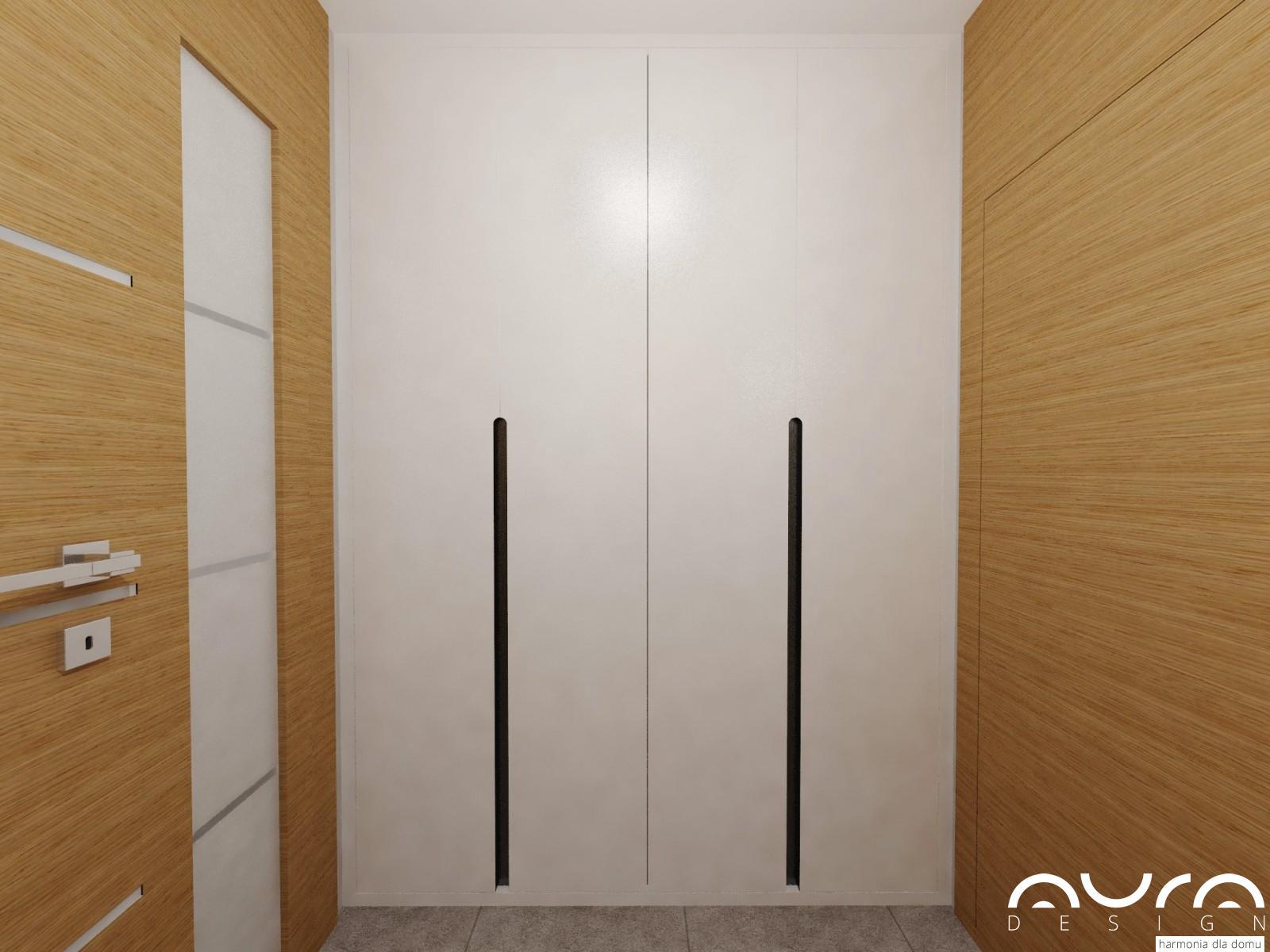 szafa w holu projektu Auradesign.pl