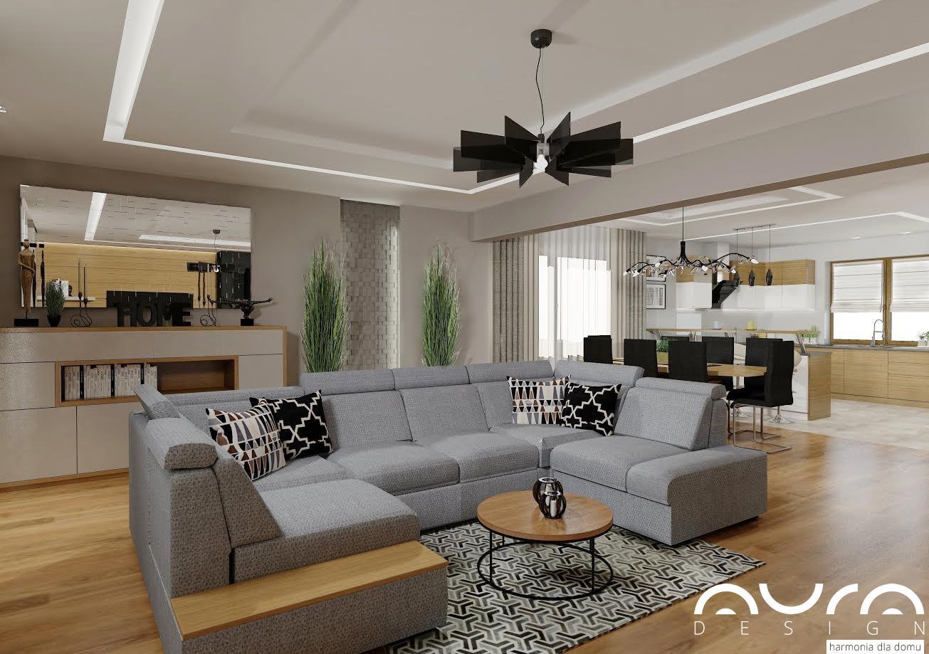 salon z aneksem kuchennym mogilno 2016 auradesing aran acja wn trz. Black Bedroom Furniture Sets. Home Design Ideas