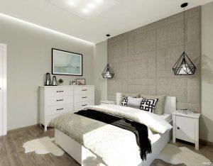 aranżacja sypialni by Auradesign.pl