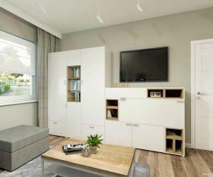pokój gościnno- biurowy zaaranżowany przez  Auradesign.pl