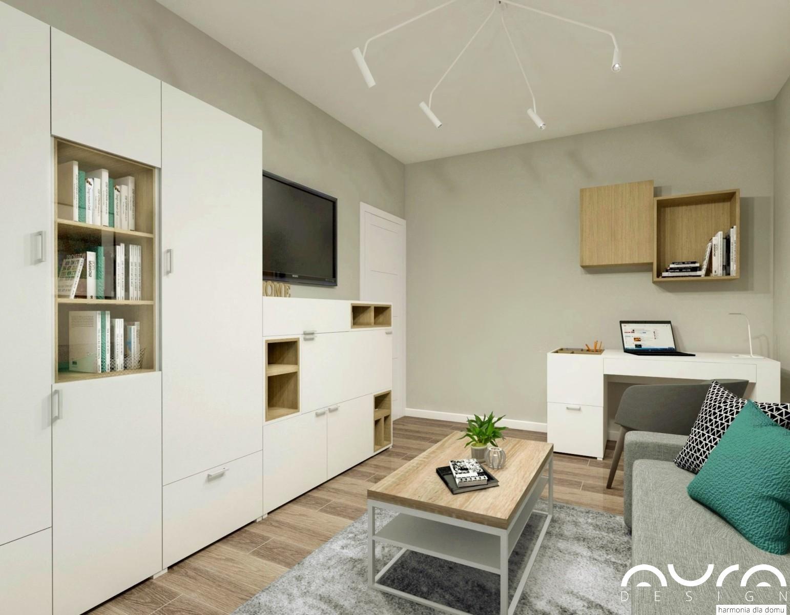 3 pokój gościnno- biurowy zaaranżowany przez Auradesign.pl