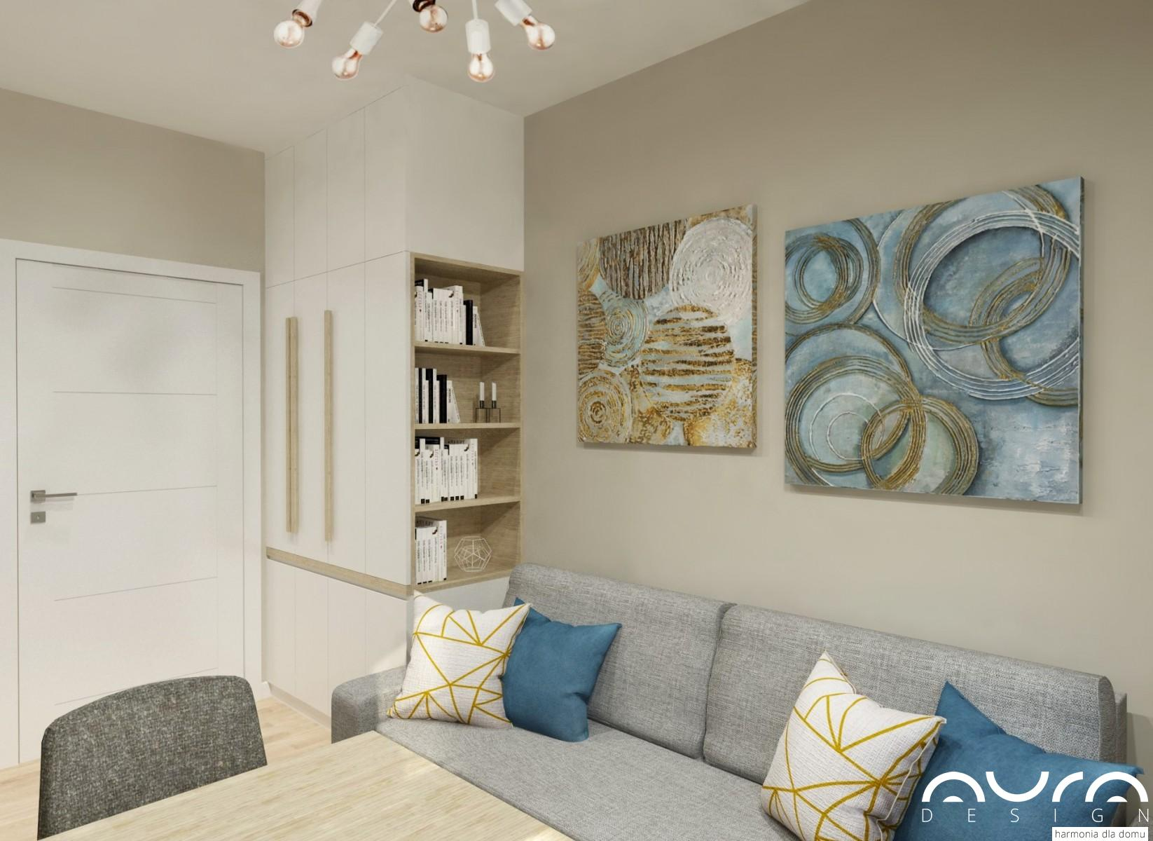 pokój gościnno- biurowy zaprojektowany przez Auradesign.pl