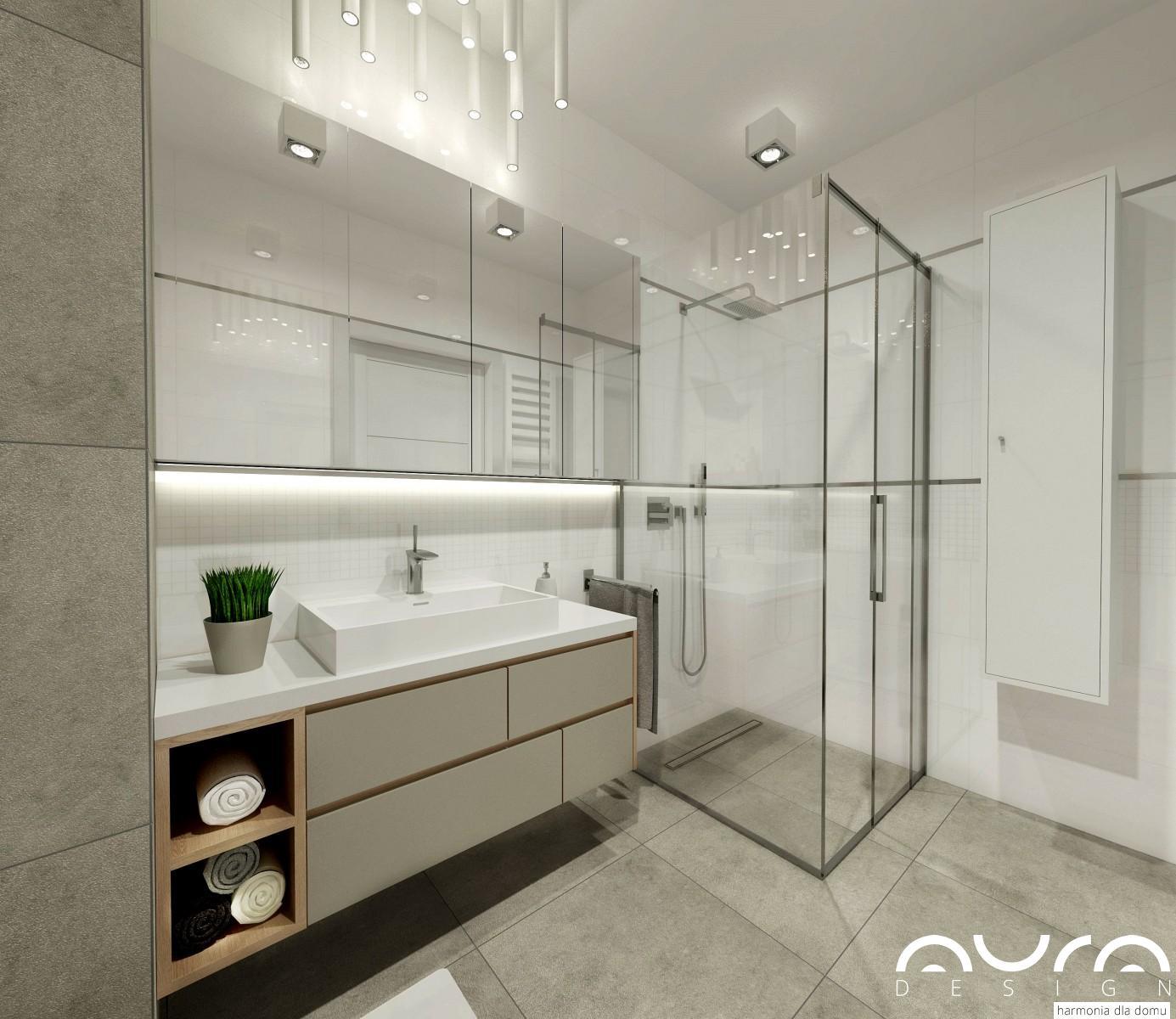łazienka zaprojektowana przez Auradesign.pl