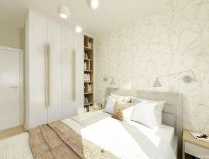 sypialnia zaprojektowana przez Auradesign.pl