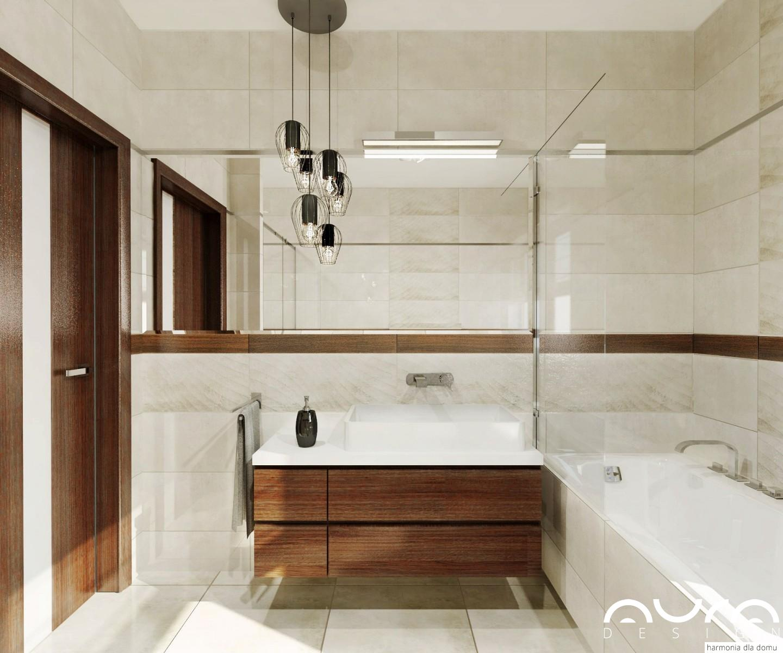 łazienka w beżowym kolorze