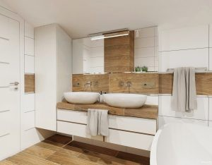 łazienka ze skosem by Auradesign.pl