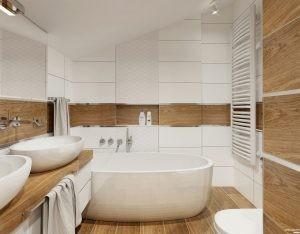 łazienka ze skosemby Auradesign.pl