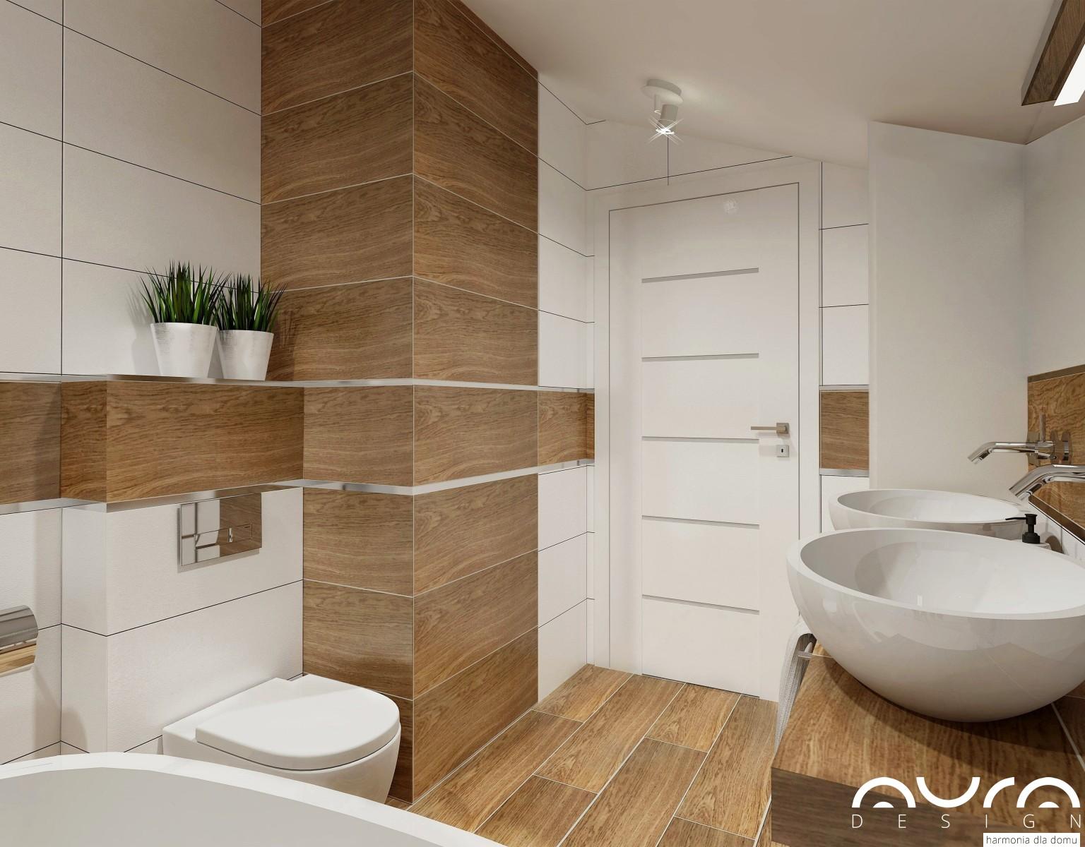 łazienka Ze Skosem By Auradesignpl Auradesing Aranżacja