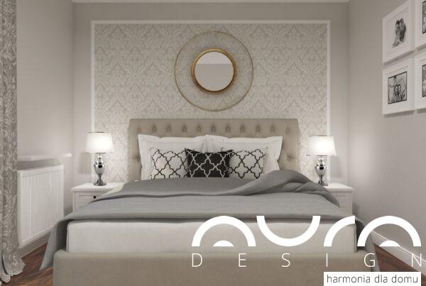 sypialnia w stylu angielskim by Auradesign.pl