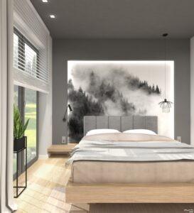 sypialnia w stylu nowoczesnym by Auradesign.pl
