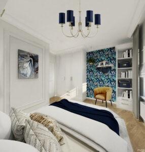 sypialnia w stylu glamour by Auradesign.pl