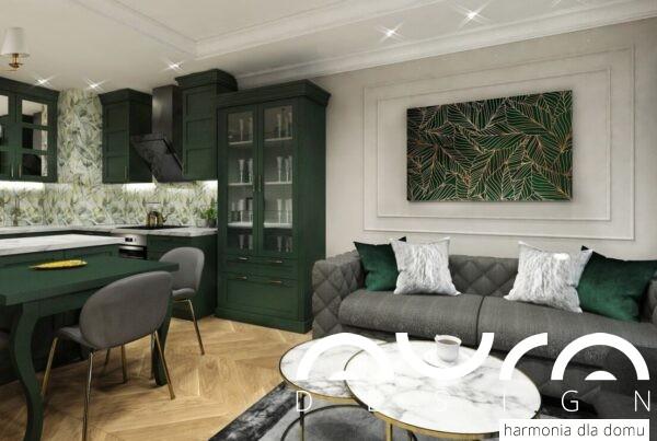 salon w stylu glamour by Auradesign.pl