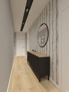 korytarz w stylu nowoczesnym by Auradesign.pl