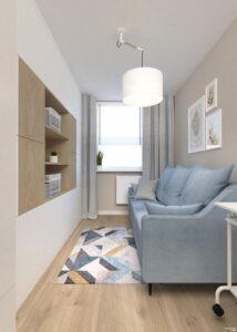pokój, sypialnia w bloku by Auradesign.pl