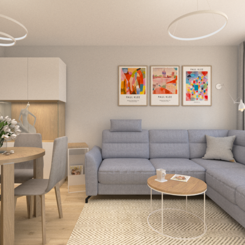 tzw. duży pokój w bloku by Auradesign.pl